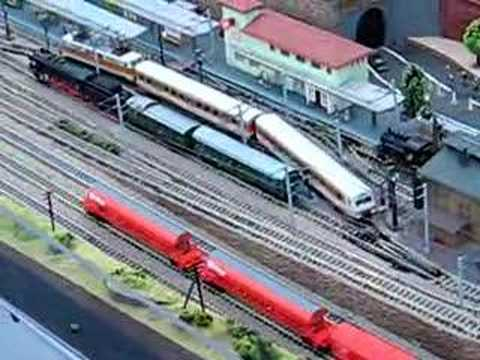 N gauge model train layout