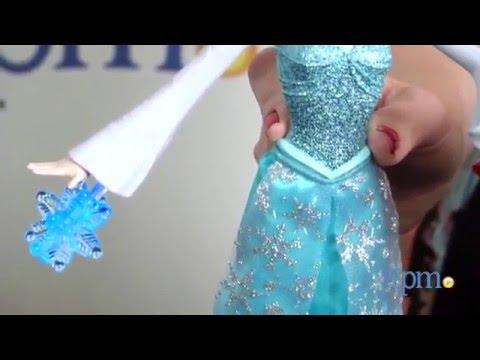 Кукла Эльза Холодное сердце со светом, с 3 снежинками и Зефиркой