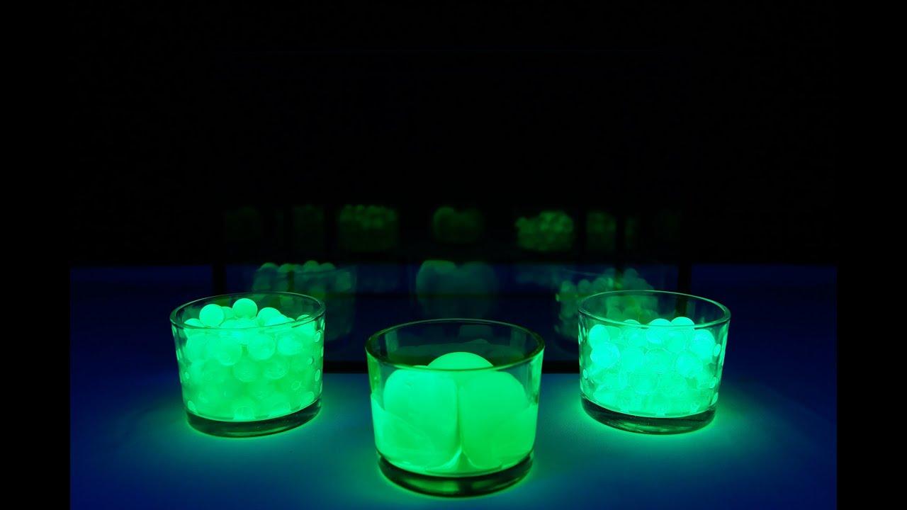 Gas Water Licht : Glowing water balz in wasser glow in the dark uv licht