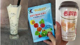TỔNG HỢP TIKTOK Công thức trà sữa, cách làm trân châu trắng, các loại trà sữa Trung Quốc