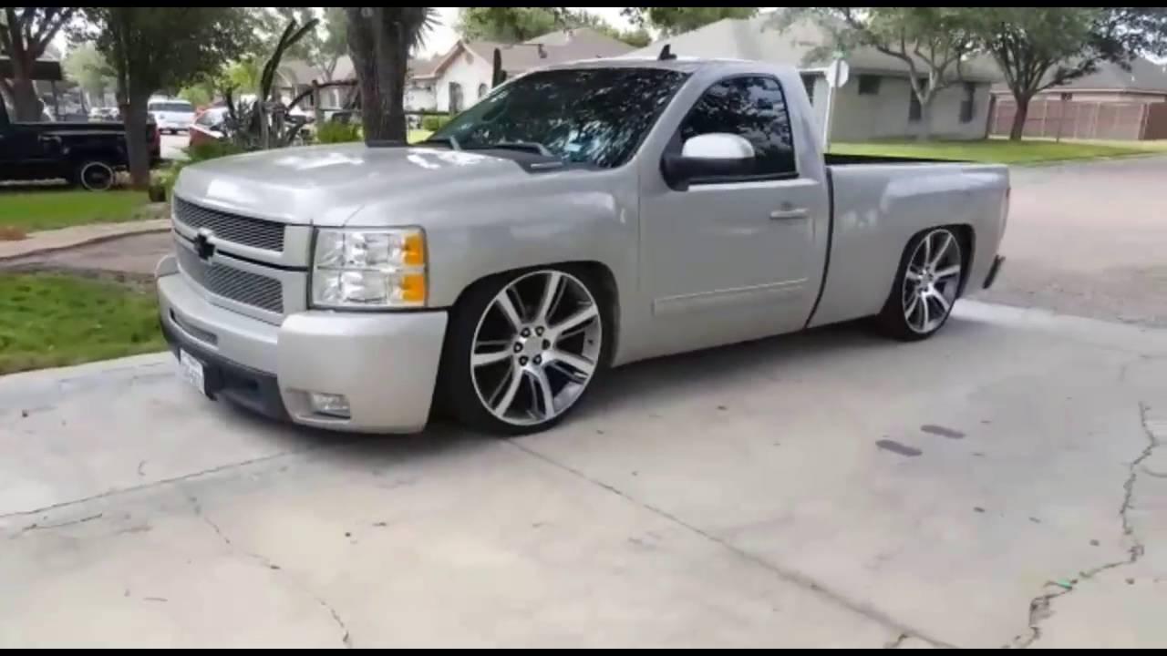 Lowered Single Cab Silverado >> Loud Cammed & Lowered Silverado HD - YouTube