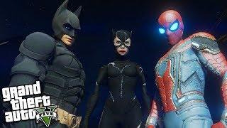 Catwoman VS Batman & Spider-Man (GTA 5 Mods)