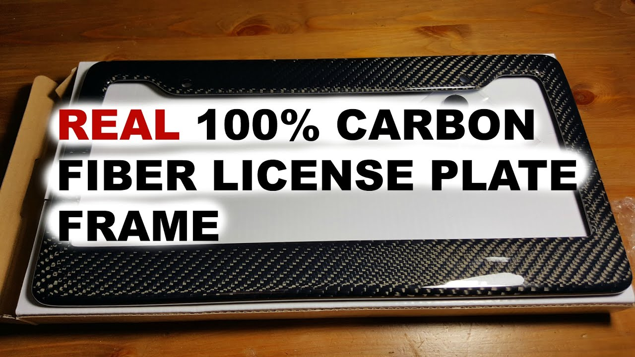 & Review: Carbon Fiber License Plate Frame - YouTube