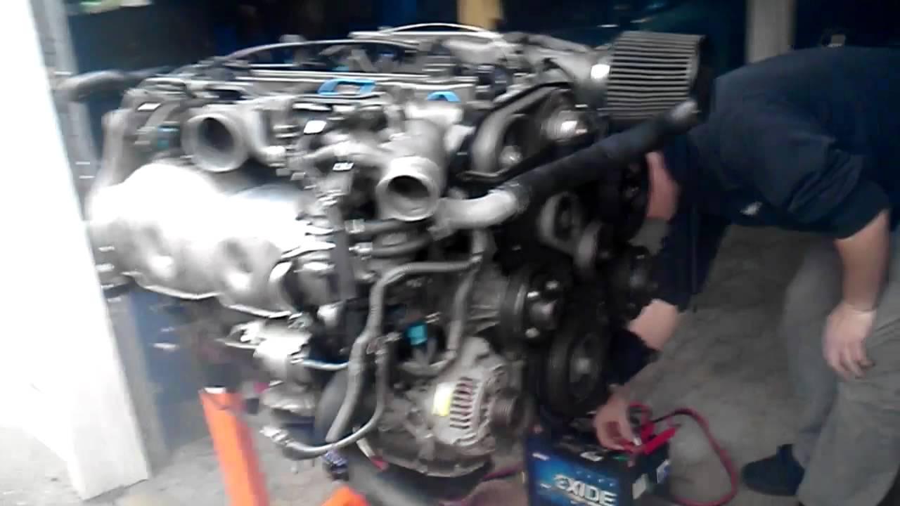 2jzgte vvti engine stand start up