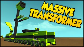 Scrap Mechanic ➤ Massive Transforming Tank Robot Thingy