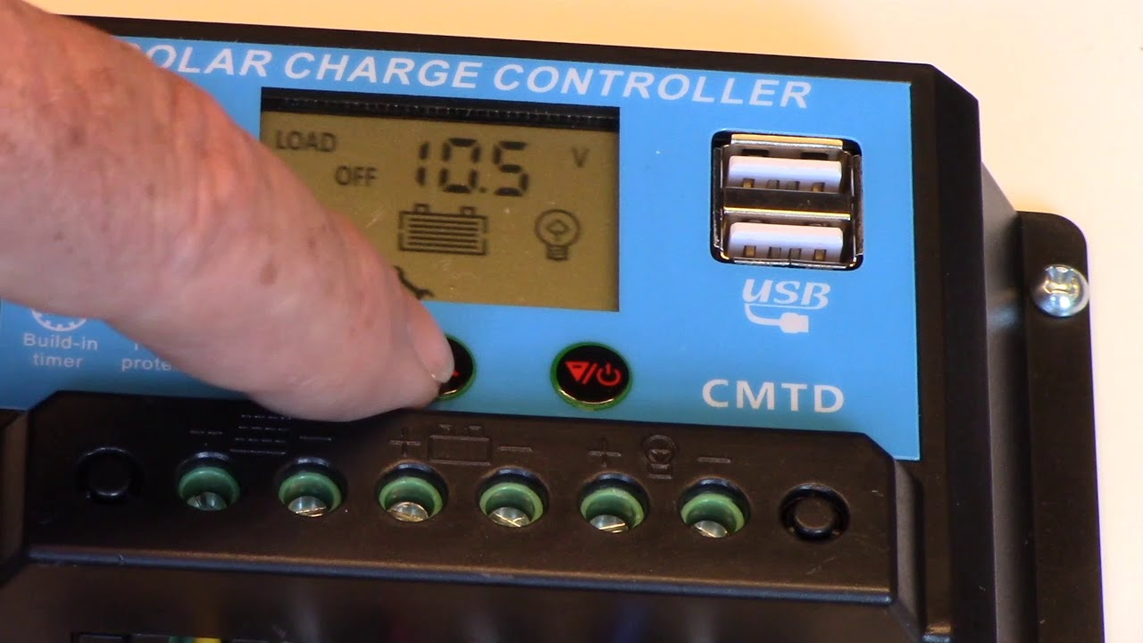 Tutorial: Programming Charge Controller on WSS 601 Solar Suitcase