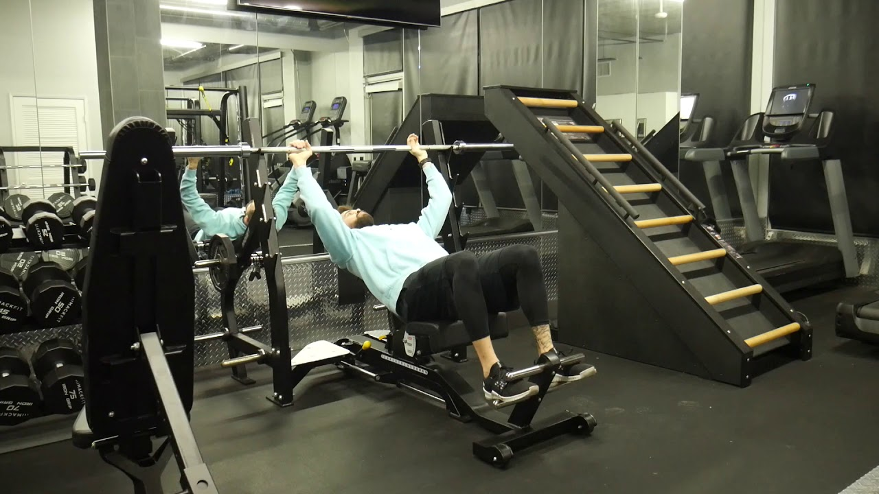How to perform: Incline barbell chest press