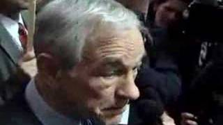 Ron Paul mobbed by reporters at the ABC News Facebook debate
