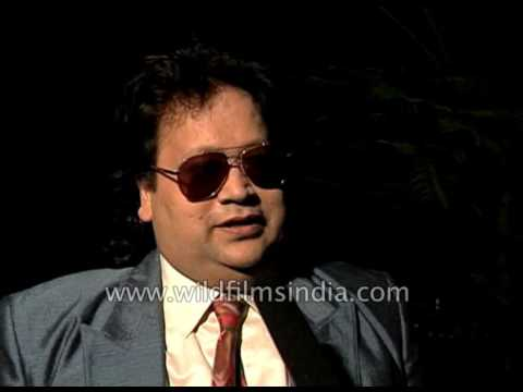 Bappi Lahiri, Indian music composer, at Indian Film Festival in 1997