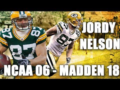 JORDY NELSON THROUGH THE YEARS - NCAA FOOTBALL 06 - MADDEN 18
