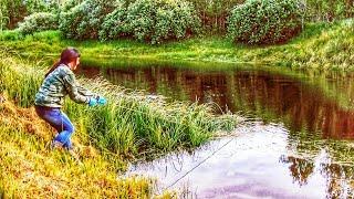 На поисковой магнит вытащила  находки. Магнитная рыбалка и красивая природа, что дух захватывает.