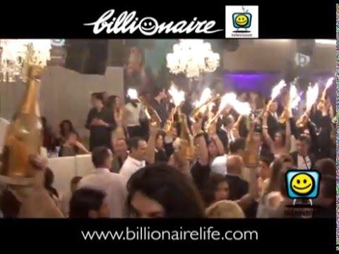 BILLIONAIRE CLUB MONACO - MONTECARLO -AMAZING CHAMPAGNE PARTY!
