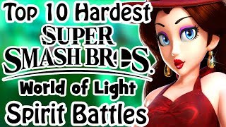Top 10 Hardest Smash Bros World of Light Spirit Battles