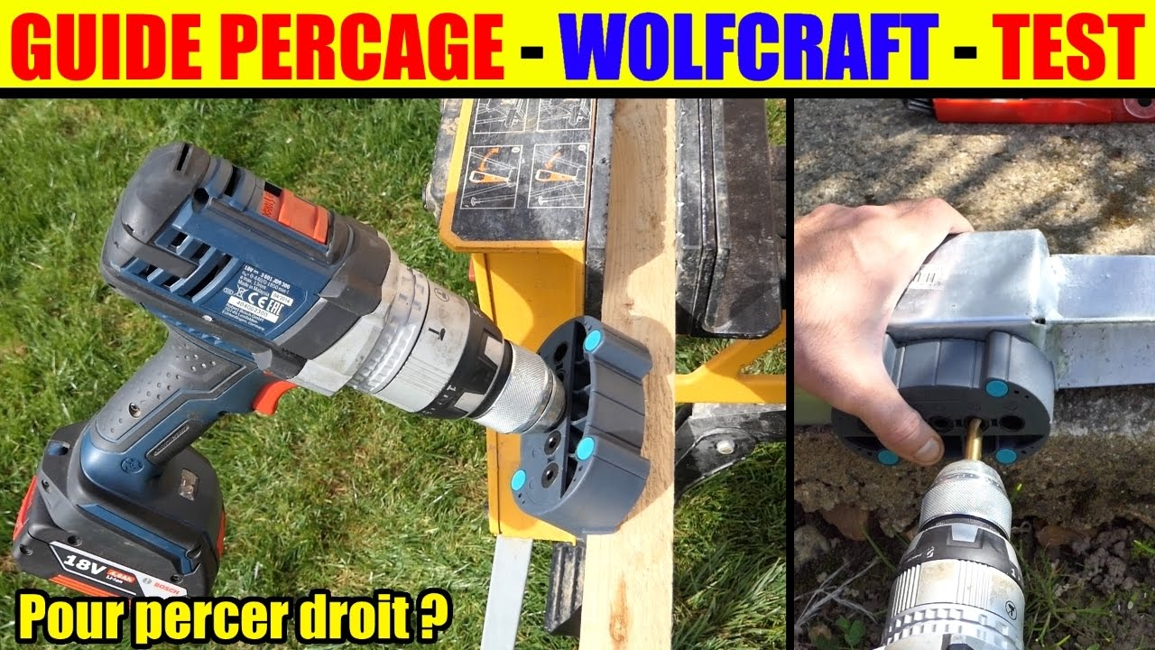 guide de percage wolfcraft 4685000 percer droit drilling aid accumobile bohrhilfe youtube. Black Bedroom Furniture Sets. Home Design Ideas