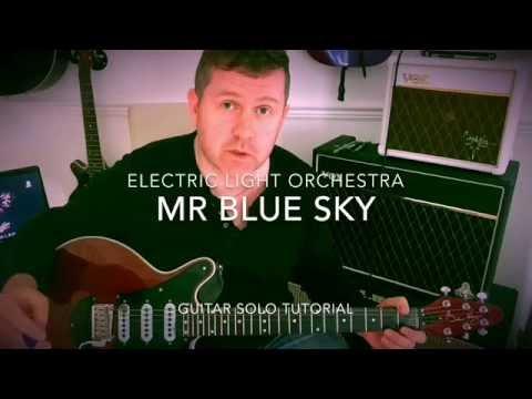 Mr Blue Sky - Guitar Solo - Electric Light Orchestra - Guitar Tutorial