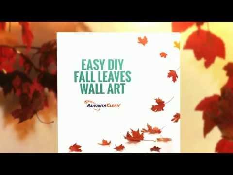 EASY DIY FALL LEAVES WALL ART
