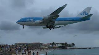 Farewell Boeing 747 - Maho Beach (Sint Maarten)