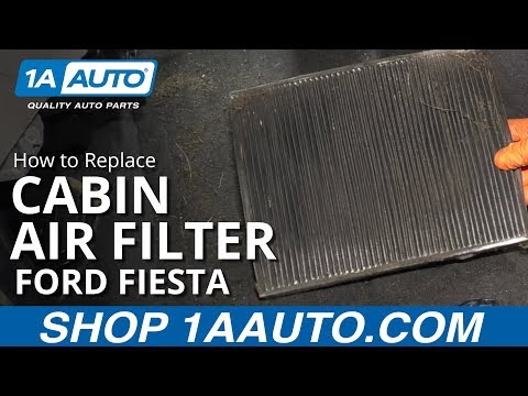 How to Replace Cabin Air Filter 11-17 Ford Fiesta