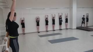 отчетный урок по гимнастике)...третий год обучения...