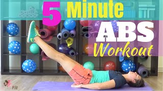 5 Minute Ab Workout w/ Beauty and The Fit - HASfit Abs Exercise Routine for Men and Women
