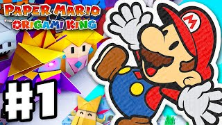 Paper Mario: The Origami King - Gameplay Walkthrough Part 1 - Intro and Whispering Woods!