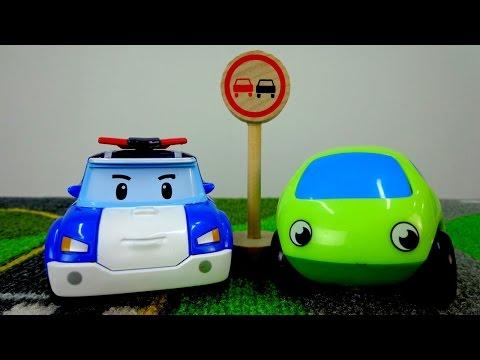 Мультики про машинки: Знаки дорожного движения. Дорожные знаки для детей. Знак Обгон запрещён.
