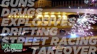 Street Racers block police & takeover Atlanta