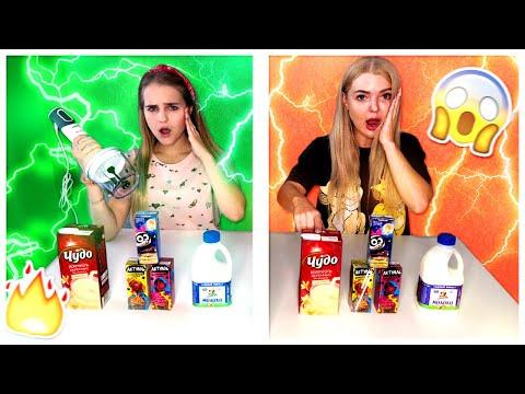 ТЕЛЕПАТИЯ Молочный Коктейль ЧЕЛЛЕНДЖ УГАДАЙ Если Сможешь Twin Telepathy Milkshake Challenge/The Liza