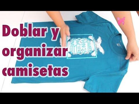 Cómo Doblar Camisetas En Vertical En 2 Segundos Ahorrar Espacio En Tu Armario Youtube