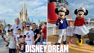 DISNEY DREAM COME TRUE | FIRST FAMILY VACATION TO DISNEY WORLD PLUS DISNEY DREAM CRUISE | THE MOVIE