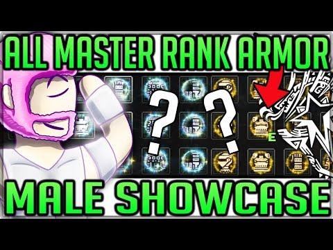 All Master Rank Armor Sets Showcase - Male - Monster Hunter World Iceborne! #iceborne #masterank