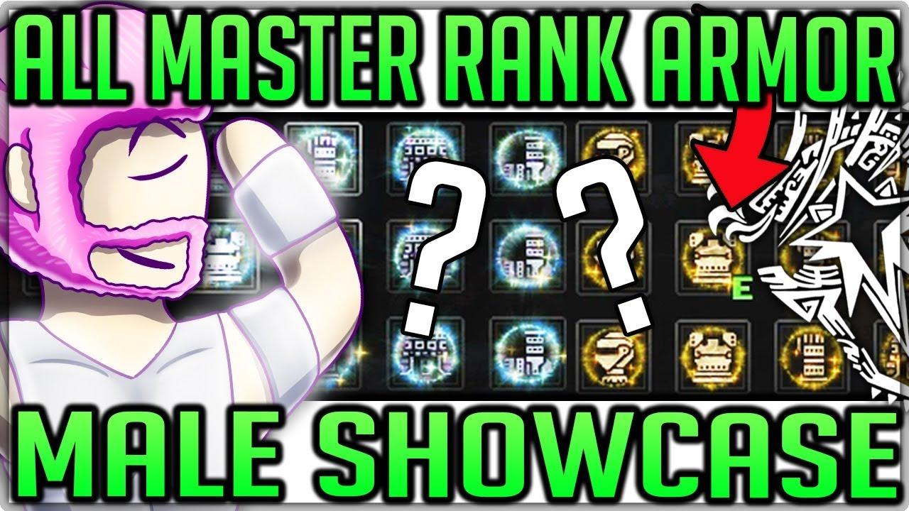 All Master Rank Armor Sets Showcase Male Monster Hunter World