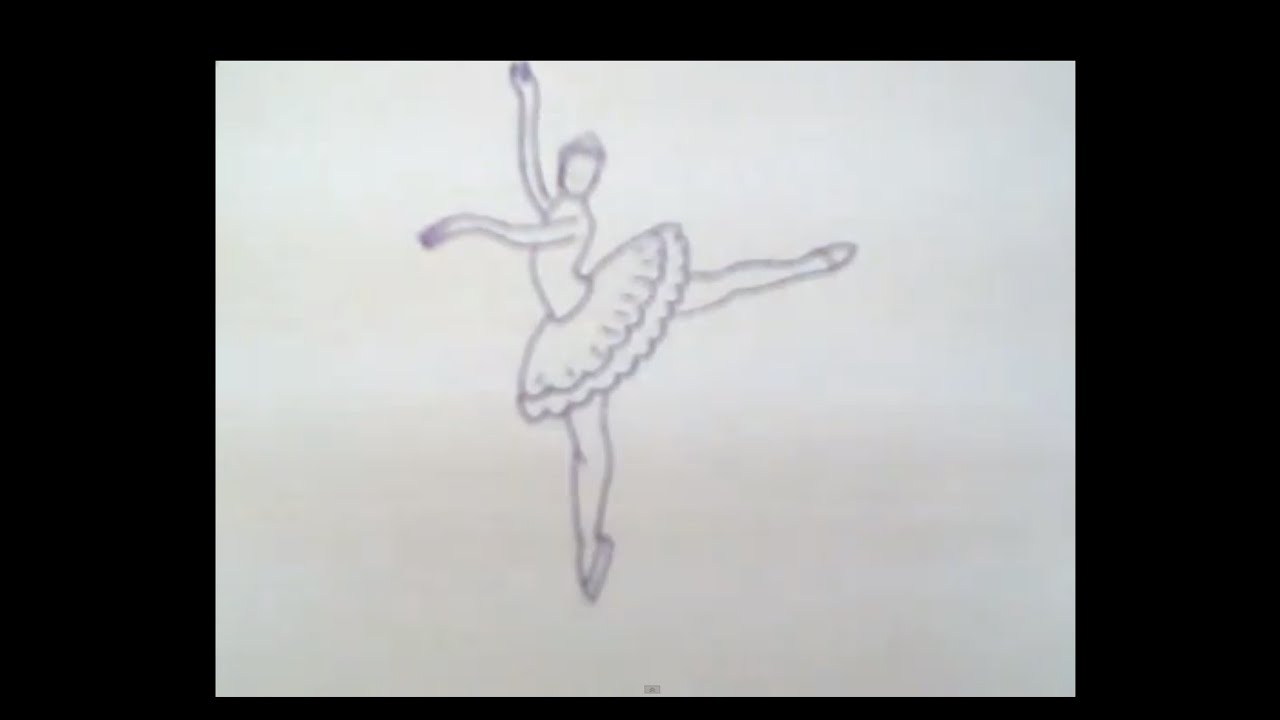 Disegno Ballerini: Ballerina. How To Draw A Easy? (Балерина. Как легко