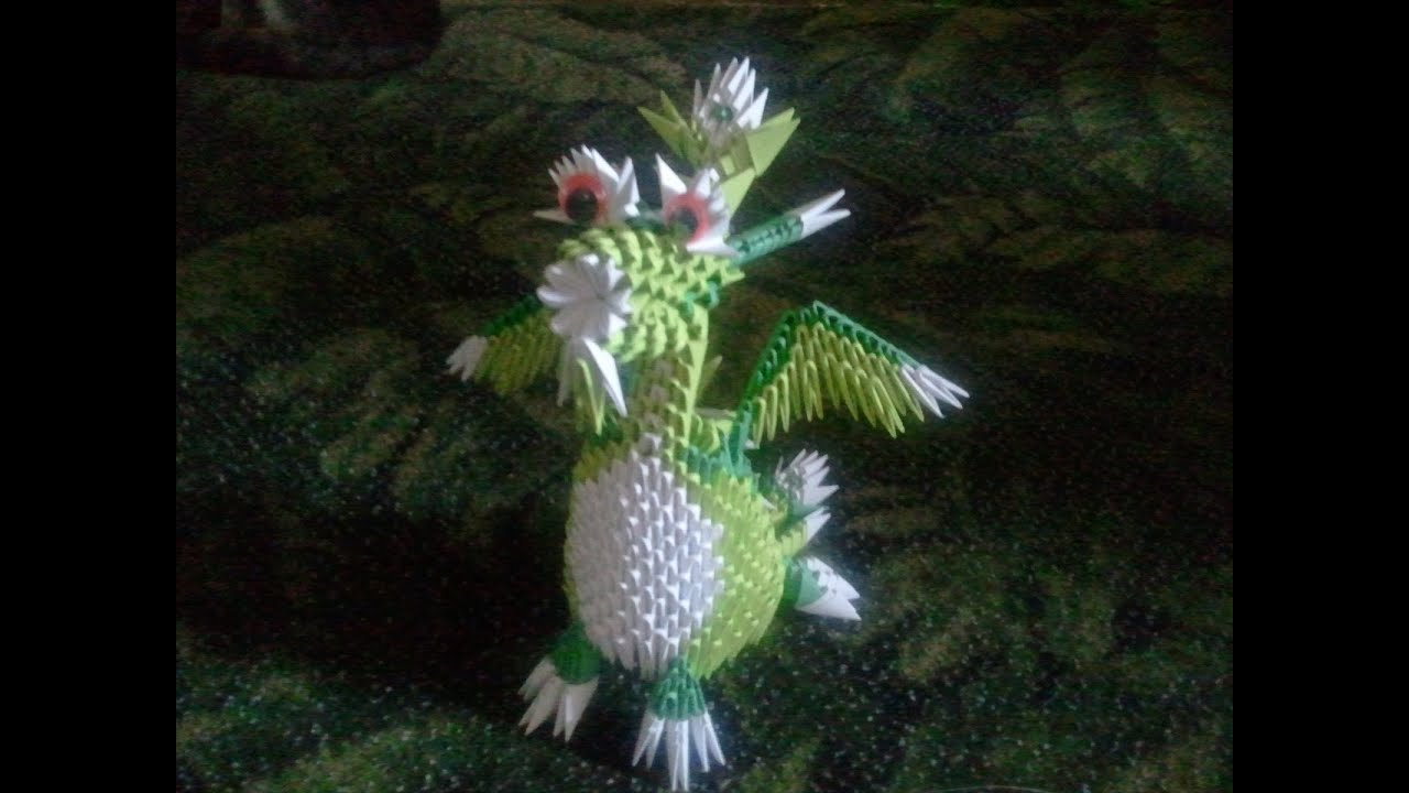 How to make 3d origami Dragon - YouTube - photo#50