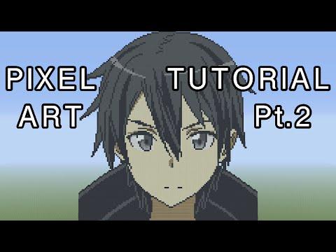 Minecraft Pixel Art Tutorial Asuna Sword Art Online Part