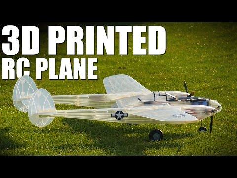 3D Printed Airplane - P 38 Lightning | Flite Test - YouTube