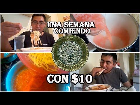Comiendo Con $10 Pesos Cada Día Por Una Semana | Anarquia 1812