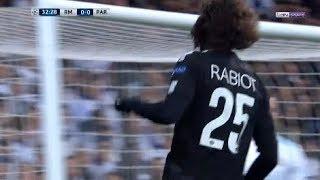 LDC Real Madrid VS PSG: But d'Adrien Rabiot (0-1) 14.02.2018