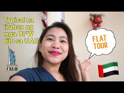 Ano Ang Typical Na Tirahan Ng Mga OFW Sa Dubai, Abu Dhabi UAE? Rent Sa Partition,Bed Space|FLAT TOUR