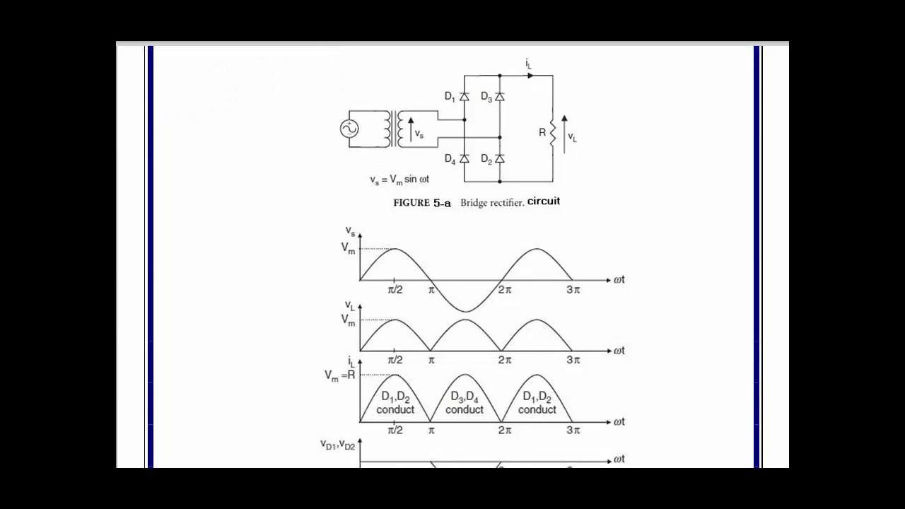 4 Basic Power Electronics Full Wave Bridge Rectifier Circuit Diagram