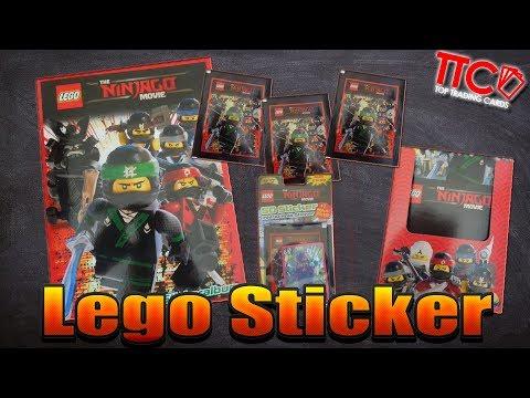 Lego Ninjago Movie Bonus Sticker alle 6 komplett 3D Sticker Bonussticker