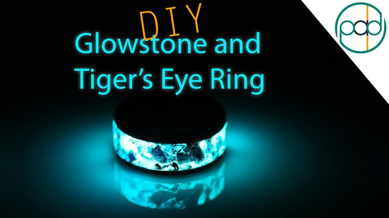 Making A Glowstone And Tigers Eye Ring On A Lathe YouTube