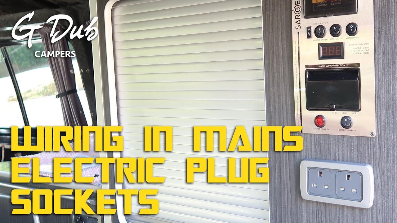 wiring in 240v mains electric plug sockets self built diy vw t5 camper conversion [ 1280 x 720 Pixel ]