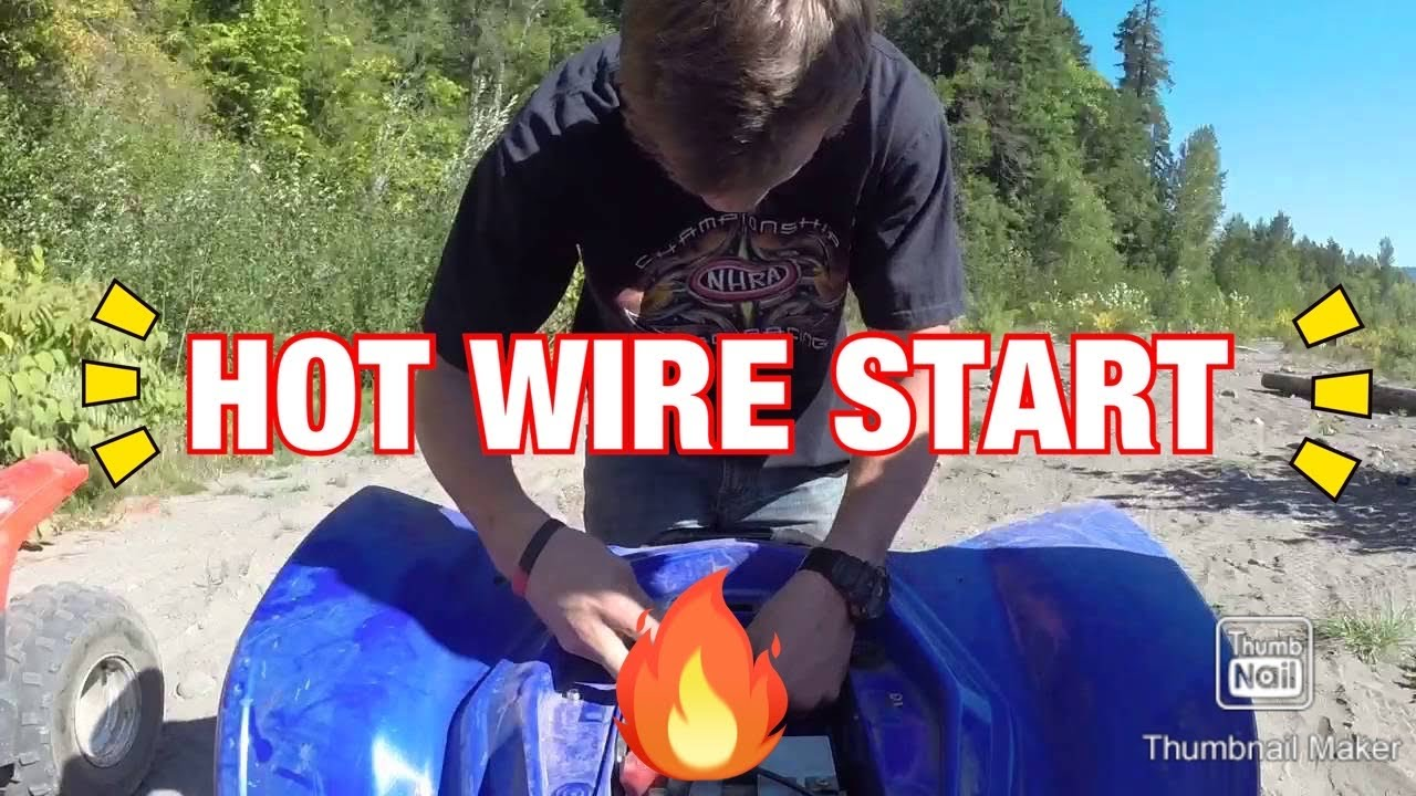 Hot Wire Quad Start Up Youtube 2007 110cc Atv Wiring Diagram