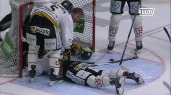 Kärpiltä loukkaantui kaksi pelaajaa samassa tilanteessa – oma pelaaja kaatui maalivahdin päälle