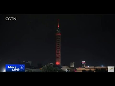 Cairo Tower lights up to mark the Year of the Dog
