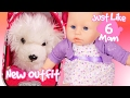 Baby Doll Video for Girls 👶 Just Like Mom #6 👶 Annabell Reborn Baby Doll Dress Up Games for Girls