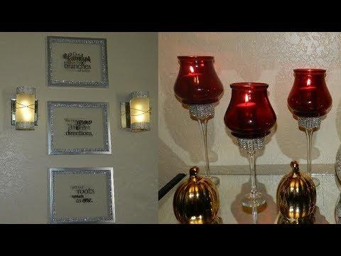 DIY Elegant Home Decor with Dollar Tree Items| DIY Wall Home Decor Idea| DIY Elegant Candle holders