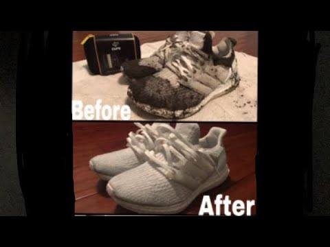How To Clean All White Ultraboost 3.0 With Crep Protect (NOT A SPONSORED VIDEO!!)
