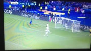 Euro 2016 Franța -Islanda 4-0 HT gol Griezmann
